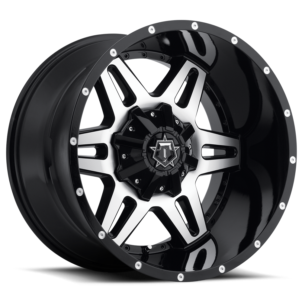 TIS OFF ROAD 538MB GLOSS BLACK WITH MACHINED FACE - Pernot ...