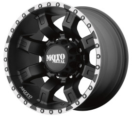 MOTO METAL MO968 Satin Black Machined
